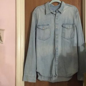 NWOT Gap Denim Button Down